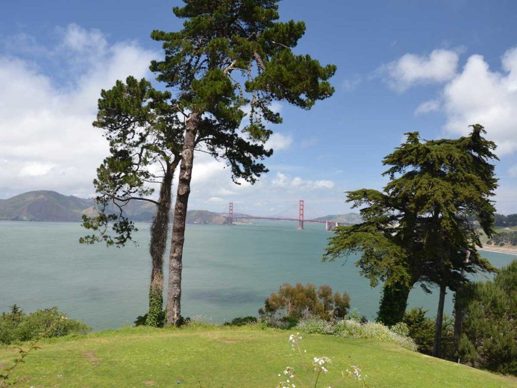 View of Golden Gate Bridge from Sea Cliff