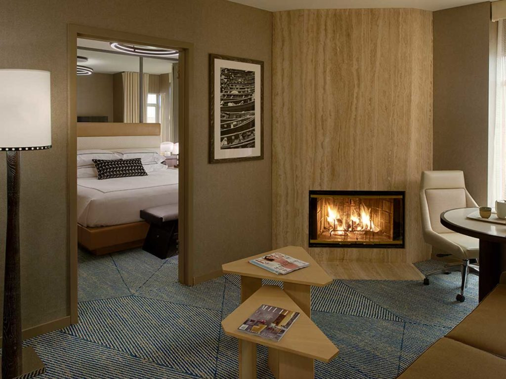 Suite With Fireplace.